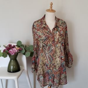 Autumn Paisley Blouse